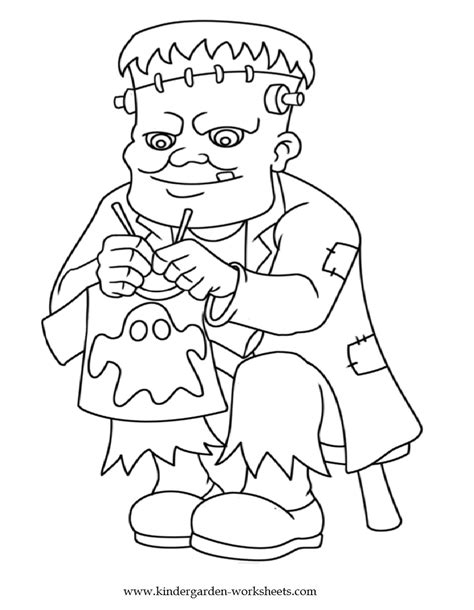 halloween coloring pages for kindergarten kindergarten worksheets halloween coloring pages