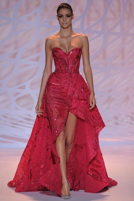 dress design red colour zuhair murad design fall couture in red color dress 2014