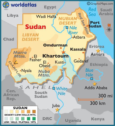 map of sudan sudan large color map