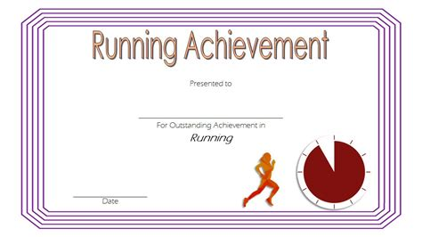 running certificates templates free running certificate 2 the best template collection