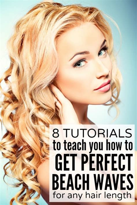 how to curl beach waves on short layered hair beachy waves beach waves and style on pinterest