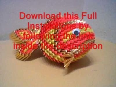 3d Origami Koi Fish - 3d origami pineapple tutorial my crafts and diy projects