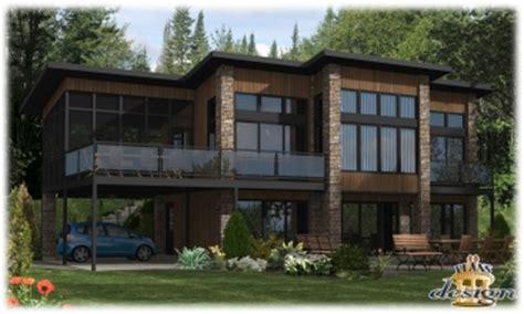 Cottage House Plan 781 Le Hudson Bungalow Chalet Handicap 233 Maison