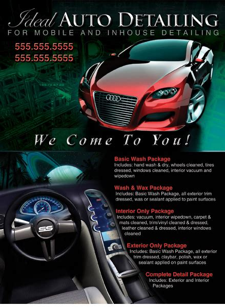 auto detailing business card template free 6 best images of auto detailing flyer ideas cars auto