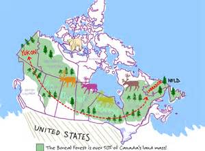 map of boreal forests in canada