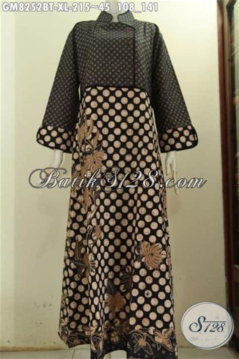 Gamis Mewah Inneke 020 Gm model baju batik elegan mewah gamis batik motif klasik kombinasi tulis desain plisir polos