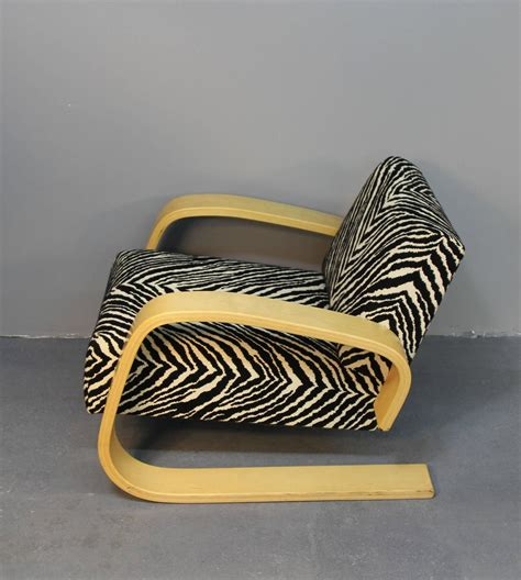 zebra pattern furniture alvar aalto tank chair with zebra pattern upholstery at