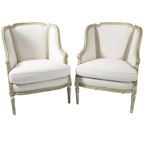 Fabric Armchairs For Sale by Louis Xvi Armchairs In Richard Allen Fabric For Sale At