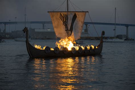 the history channel has a viking funeral at comic con