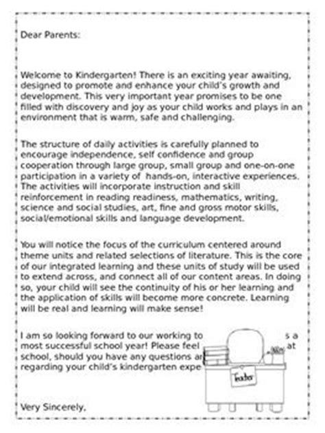 Promotion Letter To Parents 25 Best Ideas About Preschool Welcome Letter On Classroom Welcome Letter