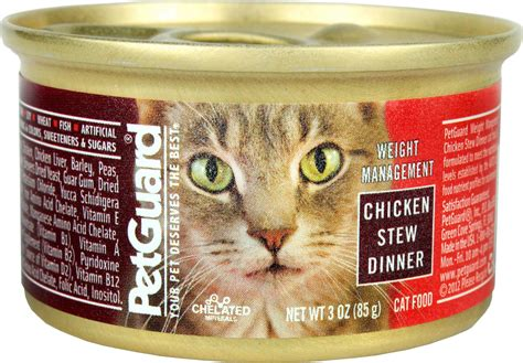 weight management canned cat food petguard weight management chicken stew dinner canned cat