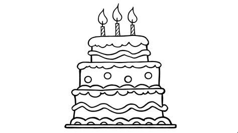 kuchen malen c 243 mo dibujar un bonito pastel de cumplea 241 os