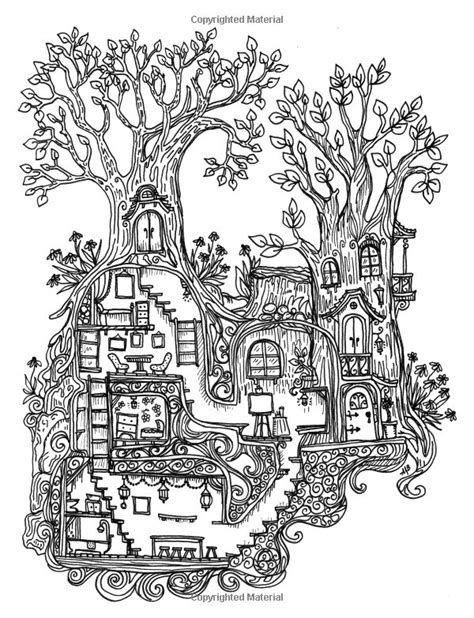 cottage house coloring pages a coloring book for adults and children secret village