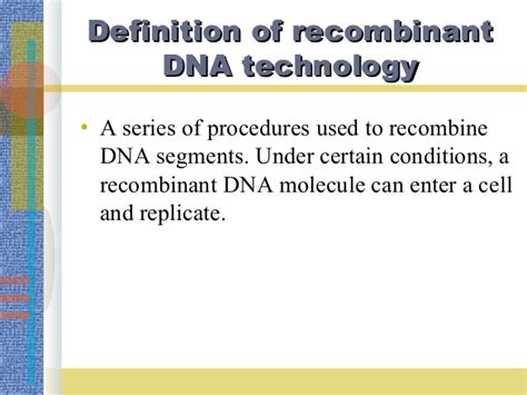 section 13 1 review dna technology recombinant dna technology