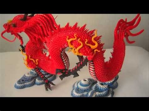 tutorial origami dragon 3d 3d origami red chinese dragon tutorial instruction
