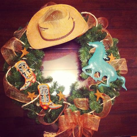 western wreath western style christmas wreath barb
