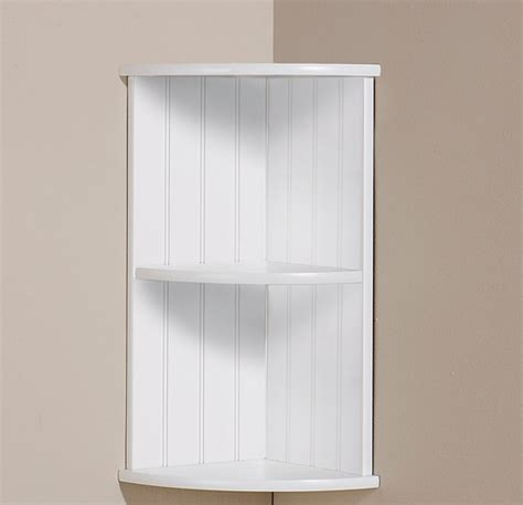 corner shelf white bathroom wooden tong groove 2 shelves