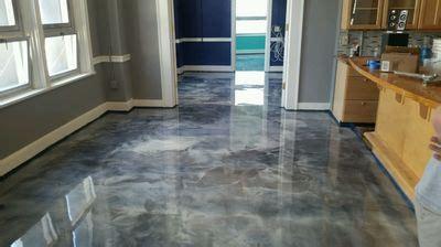 metallic epoxy garage flooring  detroit michigan area