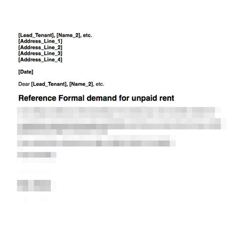Rent In Arrears Letter Rent Arrears Demand Letter Grl Landlord Association