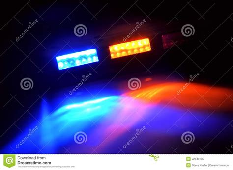 red blue police lights blue emergency royalty free stock photography