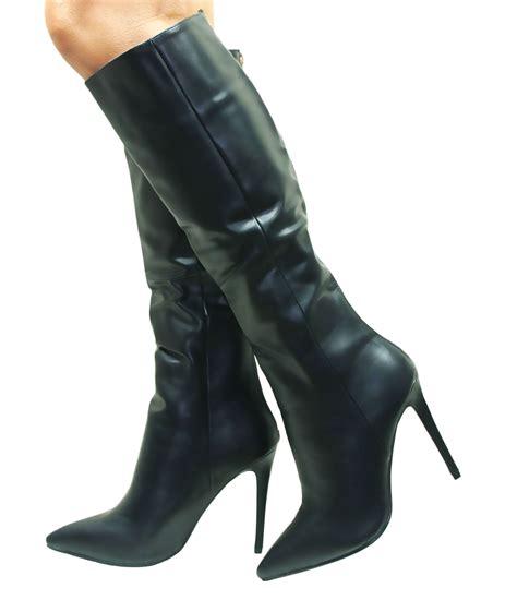 womens v winter platform stiletto knee high heel
