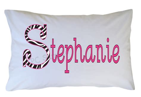 Zebra Pillow Cases by Personalized Zebra Print Initial Pillow For