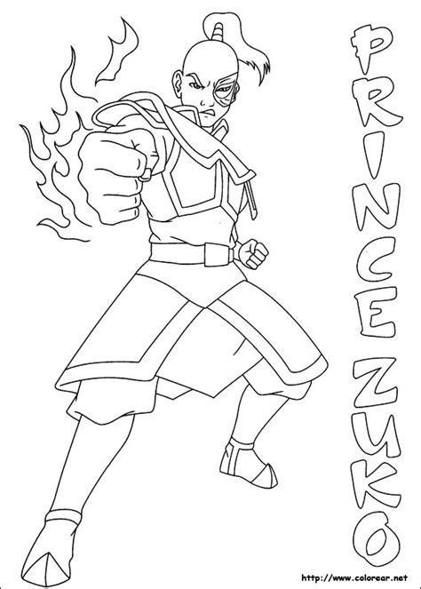 dibujos para colorear de avatar la leyenda de aang