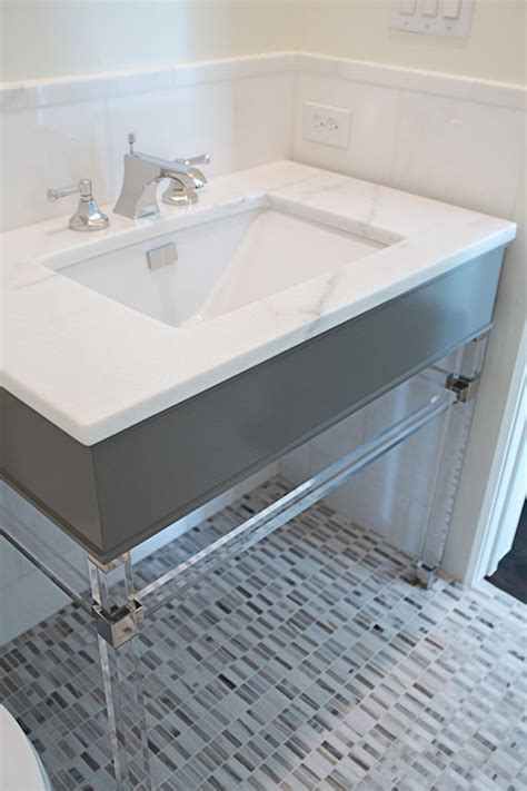 lucite sink vanity contemporary bathroom coats homes