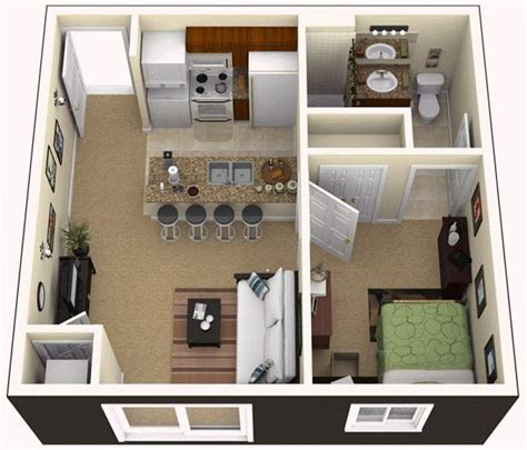 One Bedroom Apartment Designs Exle One Bedroom Apartment For The Home Pinterest Bedroom Apartment Apartments And Bedrooms