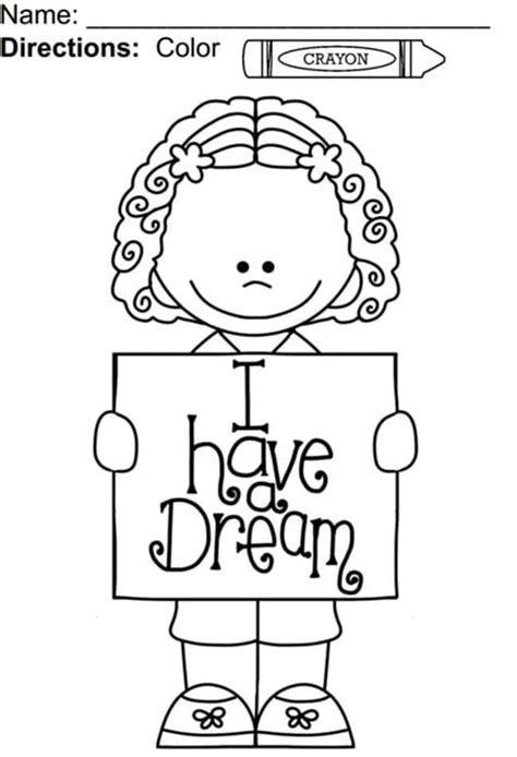 i have a dream coloring page teach junkie