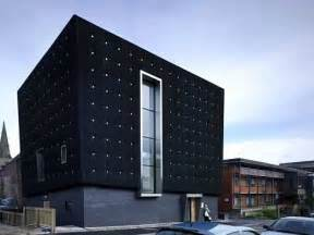 U Shaped Kitchen Design Ideas Three Storeys Soundhouse Enveloped In Black Rubber