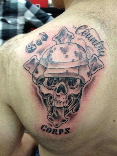 country cross tattoos god country on left back shoulder