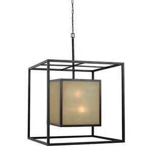 Square Pendant Lighting World Imports Hilden 12 Light Square Hanging Pendant In Aged Bronze 4114 55