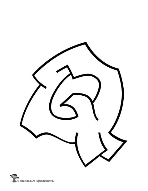 Graffiti Capital Letter Q | Woo! Jr. Kids Activities Q Bubble Letter