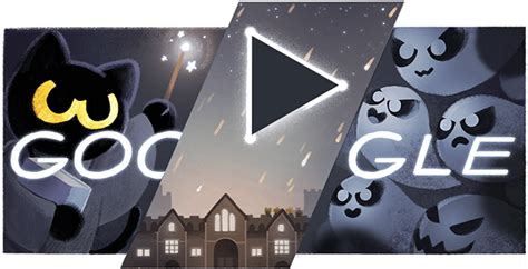 google images of halloween google halloween logo game goes live early