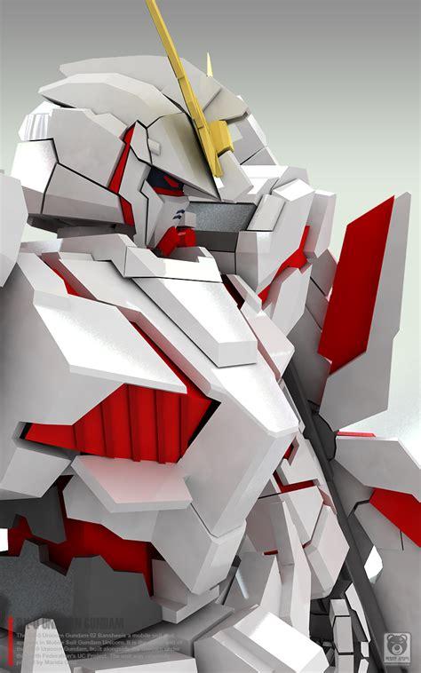 Unicorn Gundam Papercraft - gundam family gundam papercraft 1 23 unicorn gundam
