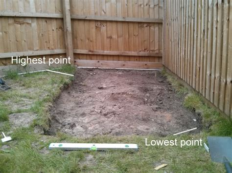 Shed Base On A Slope by Build A Shed Base On A Slope