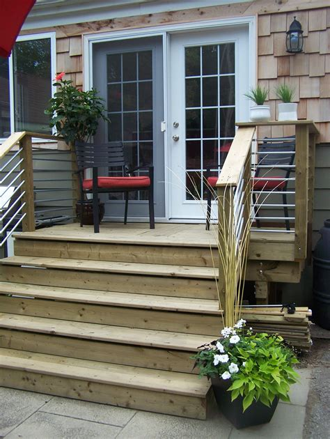 Back Patio Doors Our Back Deck Design Cost Effective Used Conduit Electrical Tubing Our Designs