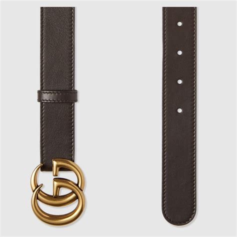 Gucci Leather 2 leather belt with g buckle gucci s belts 414516ap00t2145