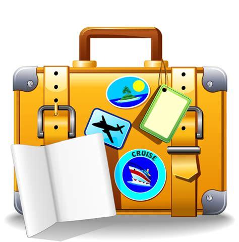 summer travel suitcase backgrounds vector 03 vector
