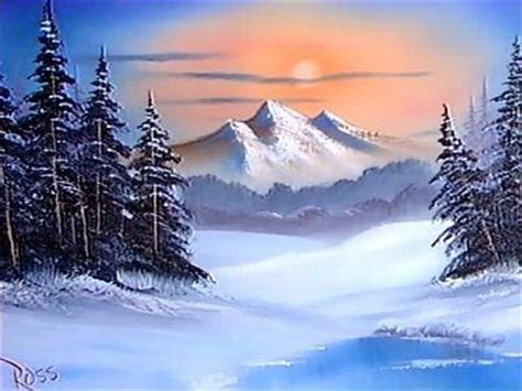 bob ross painting winter 1986 bob ross winter painting for others you who