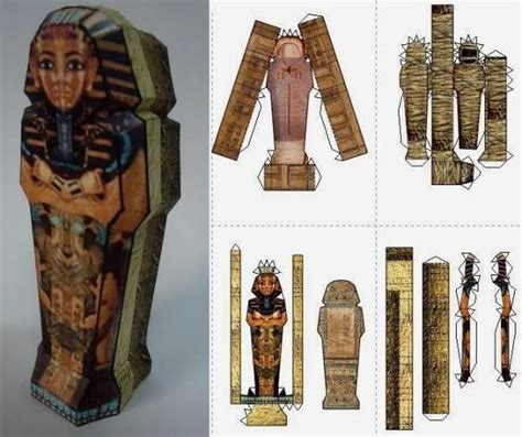 mummy s sarcophagus paper model by papermau download