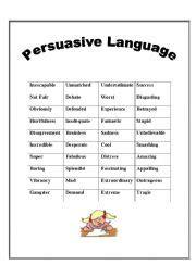 teaching worksheets persuasive writing