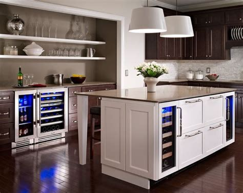 kitchen island with refrigerator 12 undercounter refrigerators the new must in modern kitchens architecture design