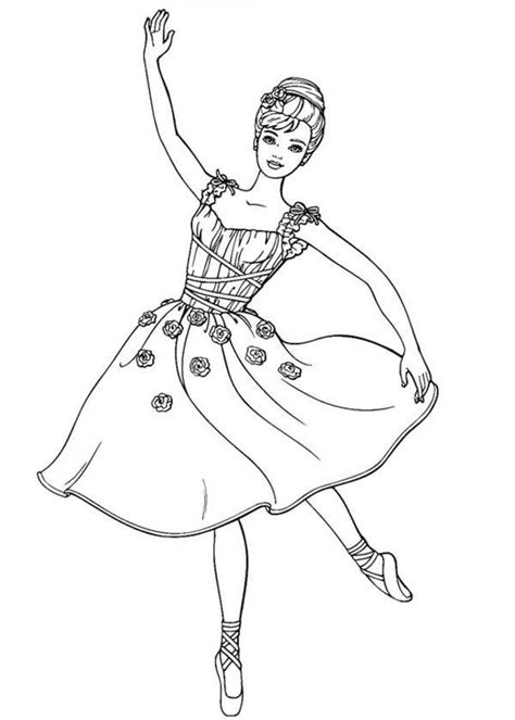 barbie dancing coloring pages barbie doll dancing ballet coloring page m 229 larbilder