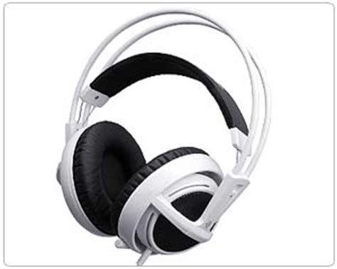 Headset Steelseries Siberia V2 White steelseries siberia v2 size gaming headset free ship