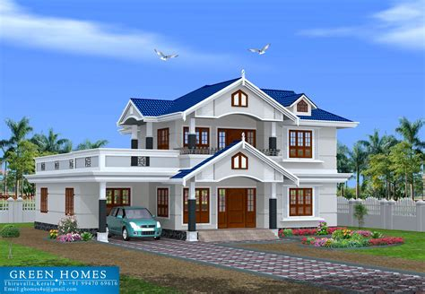 bhk kerala style home designed construction green homes