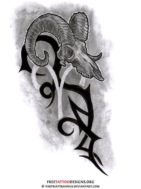 aries tribal on aries tattoos treble clef and tattoos and