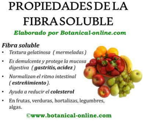 alimentos fibra soluble fibra quimica de alimentos