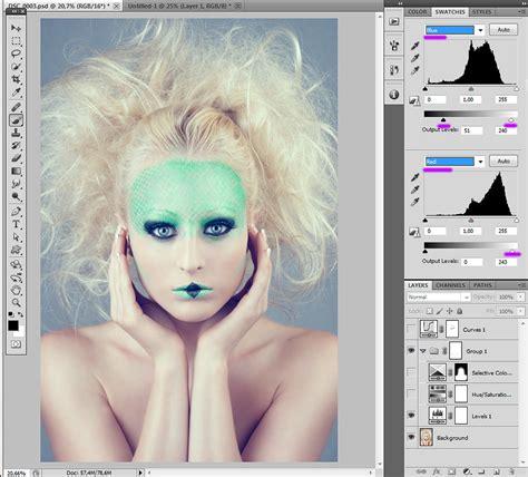 photoshop cs3 color correction tutorial photoshop tutorial color correction simple cold toning